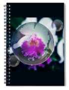 Floating Orchid Spiral Notebook