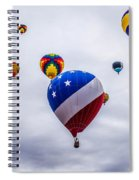 Floating Upward Spiral Notebook
