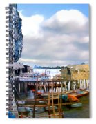 Floating Village Thailand Spiral Notebook