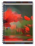 Floating Wild Red Poppies Spiral Notebook