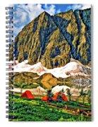 Floe Lake Painted Spiral Notebook