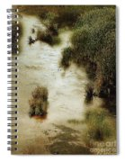Flood Tide In The Salt Marsh Spiral Notebook