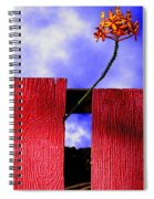 Flora And The Red Fence Spiral Notebook