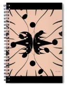 Flora Feline Blushed Spiral Notebook