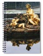 Flora Fountain - Palace Of Versailles Spiral Notebook