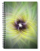 Floral Abstract Square Spiral Notebook