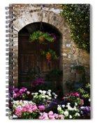 Floral Adorned Doorway Spiral Notebook