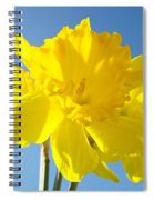 Floral Art Bright Yellow Daffodil Flowers Baslee Troutman Spiral Notebook