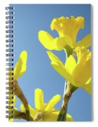 Floral Art Daffodil Flowers Spring Prints Blue Sky Baslee Troutman Spiral Notebook