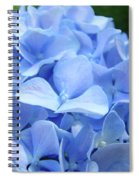Floral Artwork Blue Hydrangea Flowers Baslee Troutman Spiral Notebook