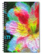 Floral Birthday Card Spiral Notebook