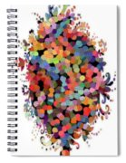 Floral Bouquet Abstract With Dots Spiral Notebook