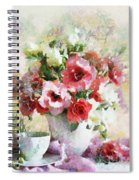 Floral Bouquet Table Setting In Tiny Bubbles Spiral Notebook