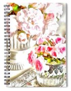 Floral Bouquets Pink Roses  Spiral Notebook