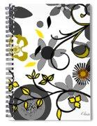 Floral Collision Spiral Notebook