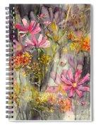 Floral Cosmos Spiral Notebook