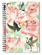 Floral Cranes Spiral Notebook