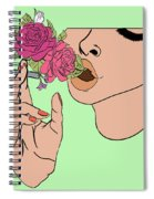Floral Emission Spiral Notebook