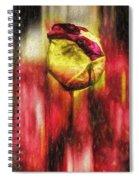 Floral Folds Spiral Notebook