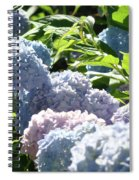 Floral Garden Art Prints Blud Hydrangea Flowers Spiral Notebook
