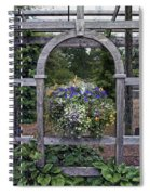 Floral Garden View Spiral Notebook