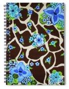 Floral Giraffe Print Spiral Notebook