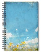 Floral In Blue Sky And Cloud Spiral Notebook