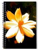 Floral In Yellow Spiral Notebook