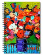 Floral Miniature - Abstract 0315 Spiral Notebook