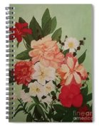 Floral On Green Spiral Notebook