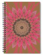 Floral Petals With Hearts Spiral Notebook