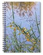 Floral Pond  Spiral Notebook