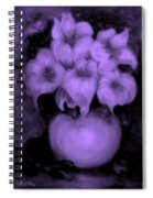 Floral Puffs In Purple Spiral Notebook