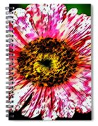 Floral Red And White Painting  Spiral Notebook