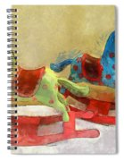 Floral Rocking Horses Spiral Notebook