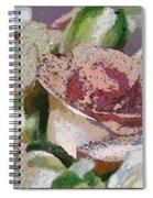 Floral Sand Spiral Notebook