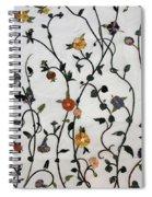 Floral Satin Spiral Notebook