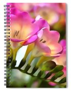 Floral She Sparkles Spiral Notebook