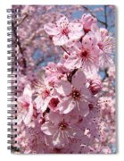 Floral Spring Art Pink Blossoms Canvas Baslee Troutman Spiral Notebook
