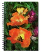Floral Spring Tulips 2017 Pa 02 Vertical Spiral Notebook