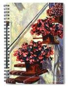 Floral Staircase Spiral Notebook