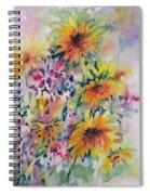 Floral Symphony Spiral Notebook