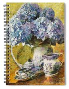Floral Table Onset In Tiny Bubbles Spiral Notebook