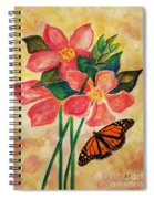 Floral With Butterfly Spiral Notebook