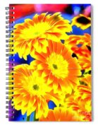 Floral Yellow Painting Lit Spiral Notebook