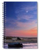 Florence Beach Twilight Moon Spiral Notebook