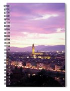 Florence Dusk, Tuscany, Italy Spiral Notebook