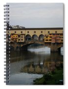Florence Italy - An Autumn Day At Ponte Vecchio Spiral Notebook