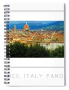 Florence, Italy Panoramic Poster Spiral Notebook