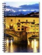 Florence - Ponte Vecchio Sunset From The Oltrarno Spiral Notebook